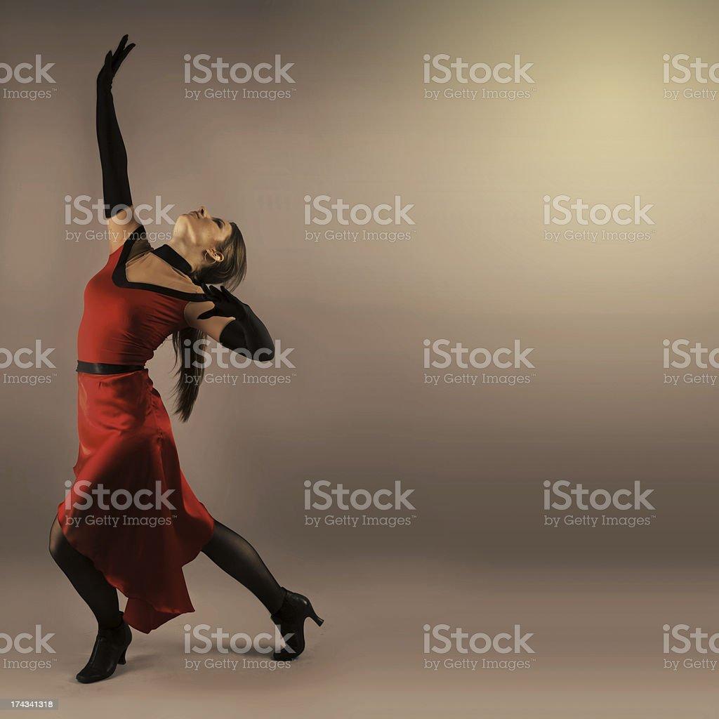 Flamenco Dancer Woman royalty-free stock photo