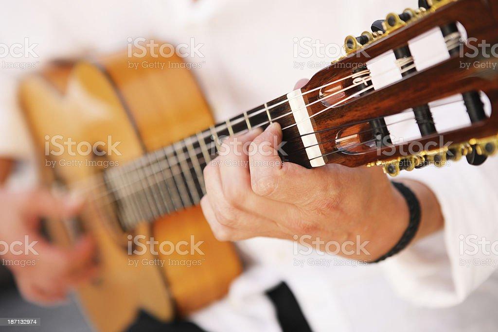 Flamenco Guitarist Musician Acoustic Instrument stock photo