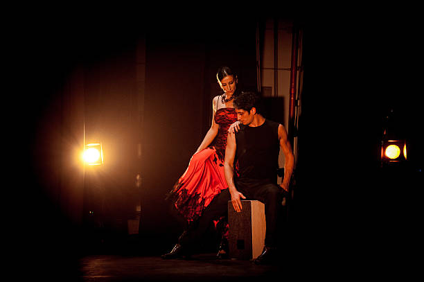 Flamenco man and woman stock photo
