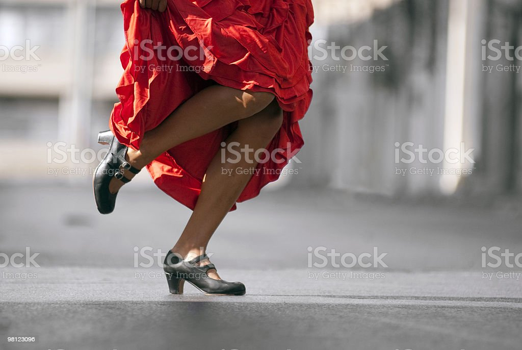 Flamenco move royalty-free stock photo