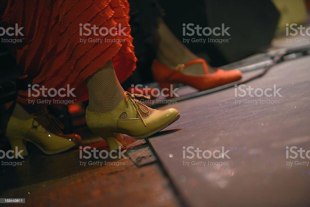 Zapatos de Flamenco foto de stock libre de derechos
