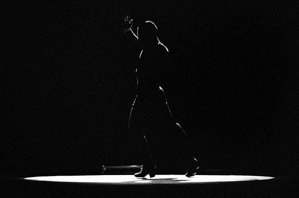 Flamenco silhouette stock photo