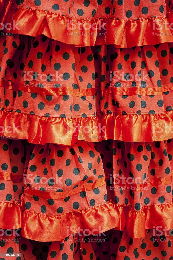 Flamenco skirt royalty-free stock photo