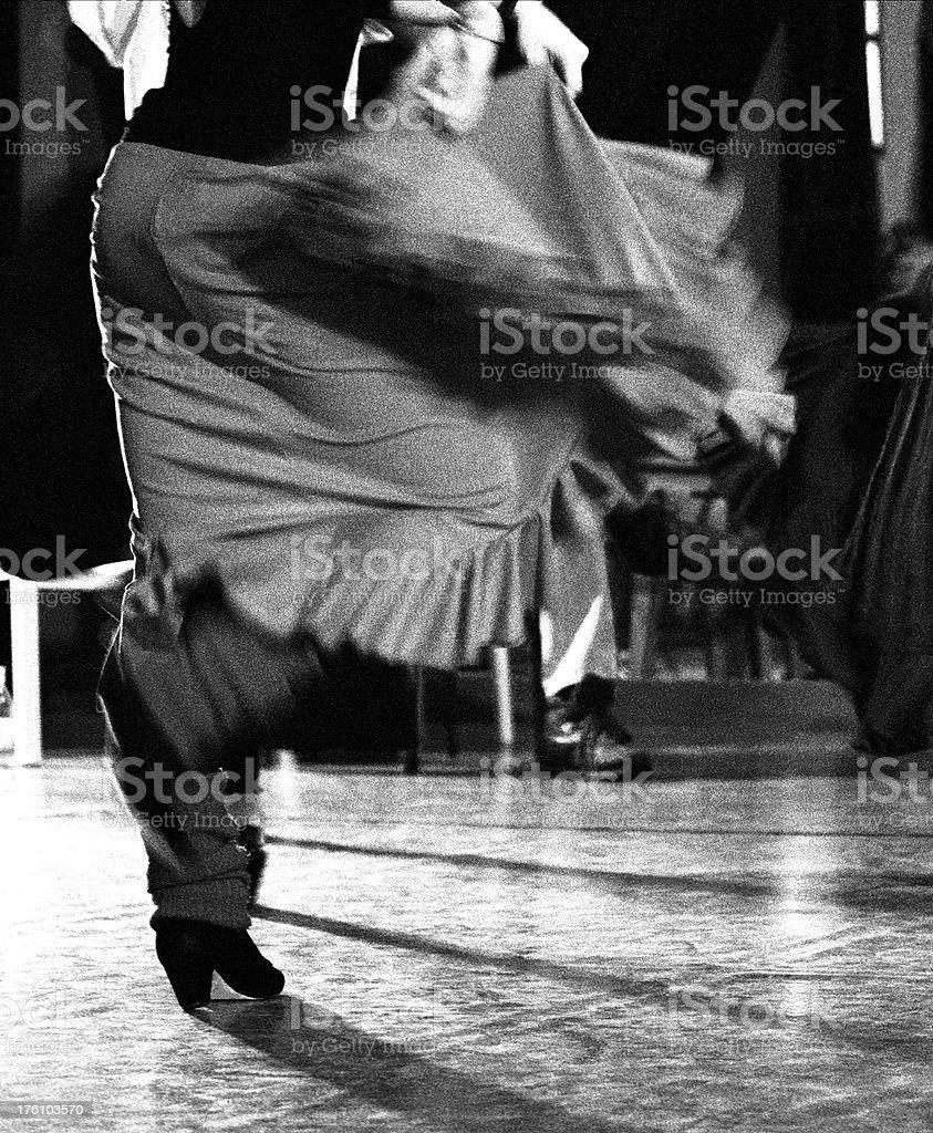 Flamenco training royalty-free stock photo