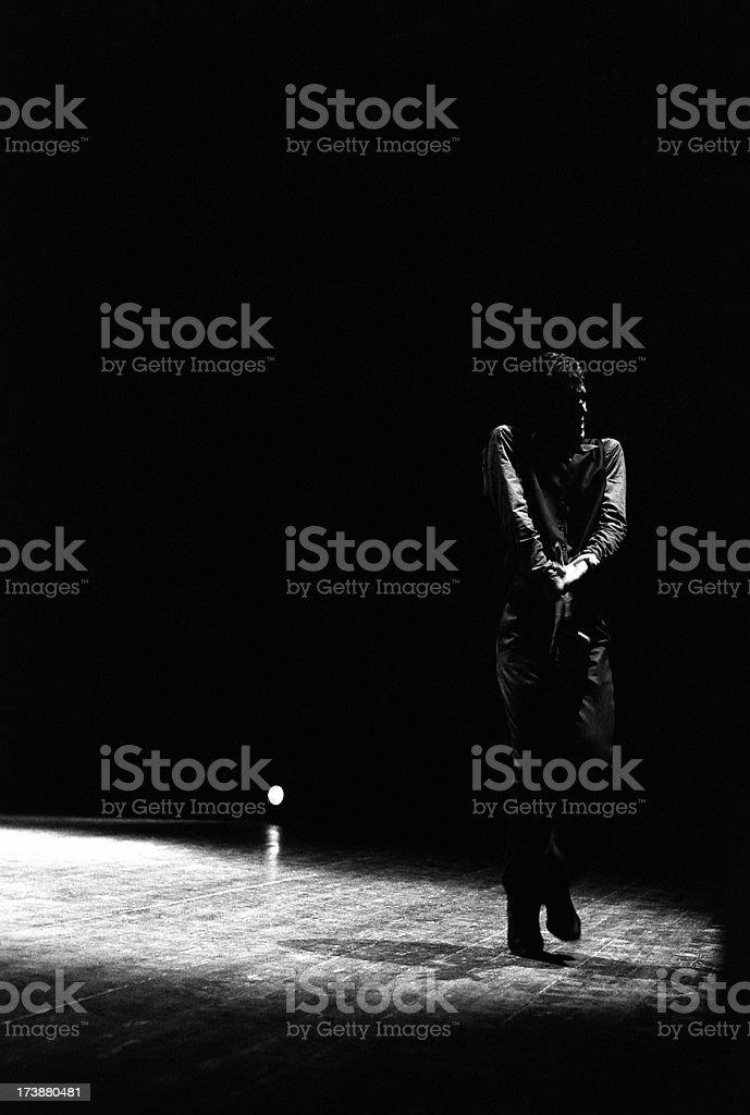 Flamenco's bailaor royalty-free stock photo
