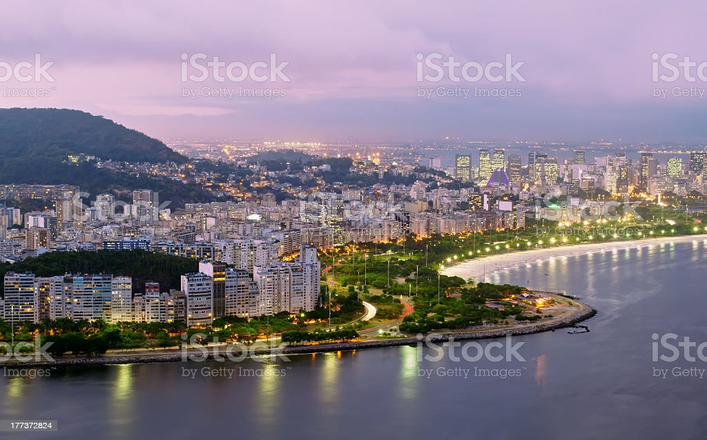 Flamengo beach and district in Rio de Janeiro royalty-free stock photo