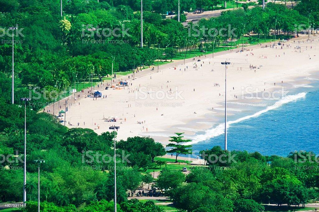 Flamengo Beach in Rio de Janeiro stock photo