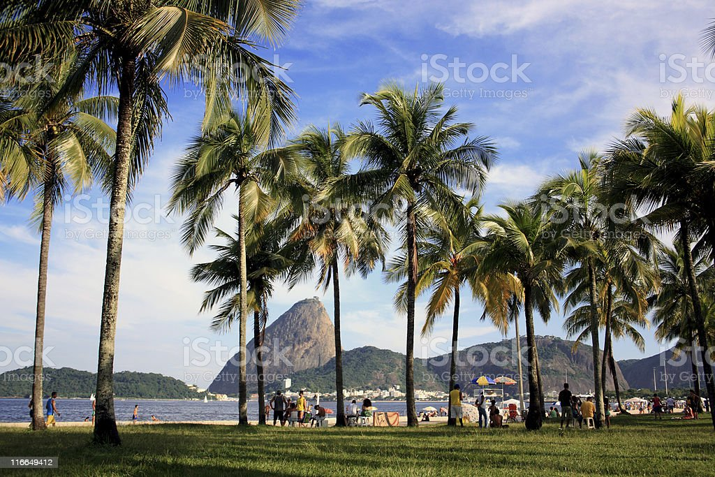 Flamengo Park and the Sugarloaf royalty-free stock photo