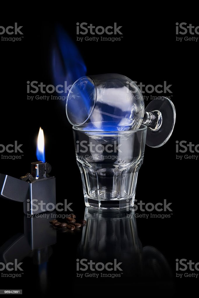 Flamer Cocktail royalty-free stock photo