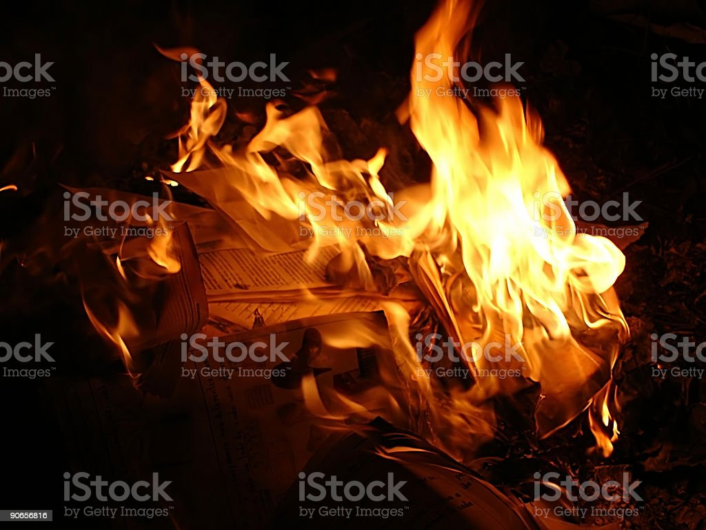 Flames and Bonfire Series royalty-free stock photo