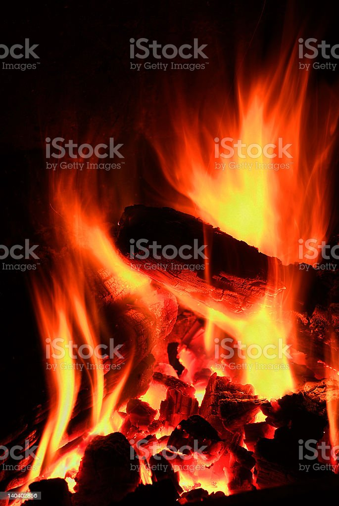 flames and bonfires royalty-free stock photo