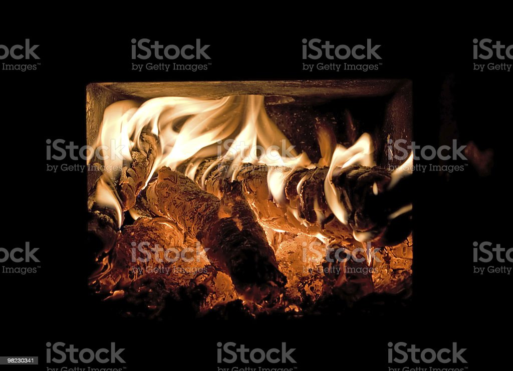 Flames and glow royalty-free stock photo