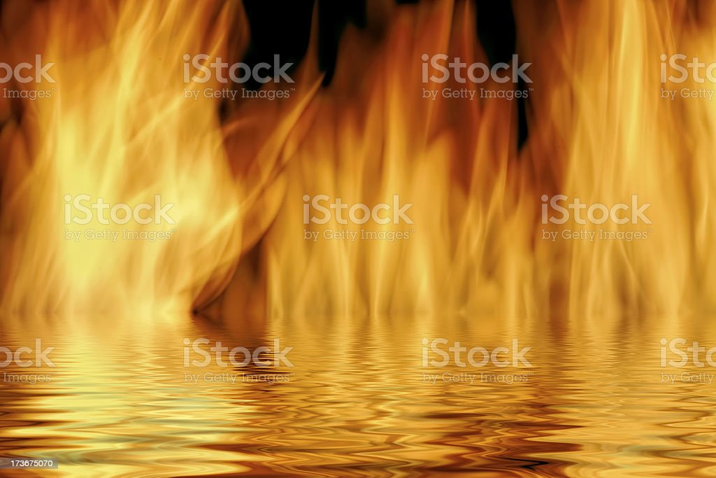 flames and water royalty-free stock photo