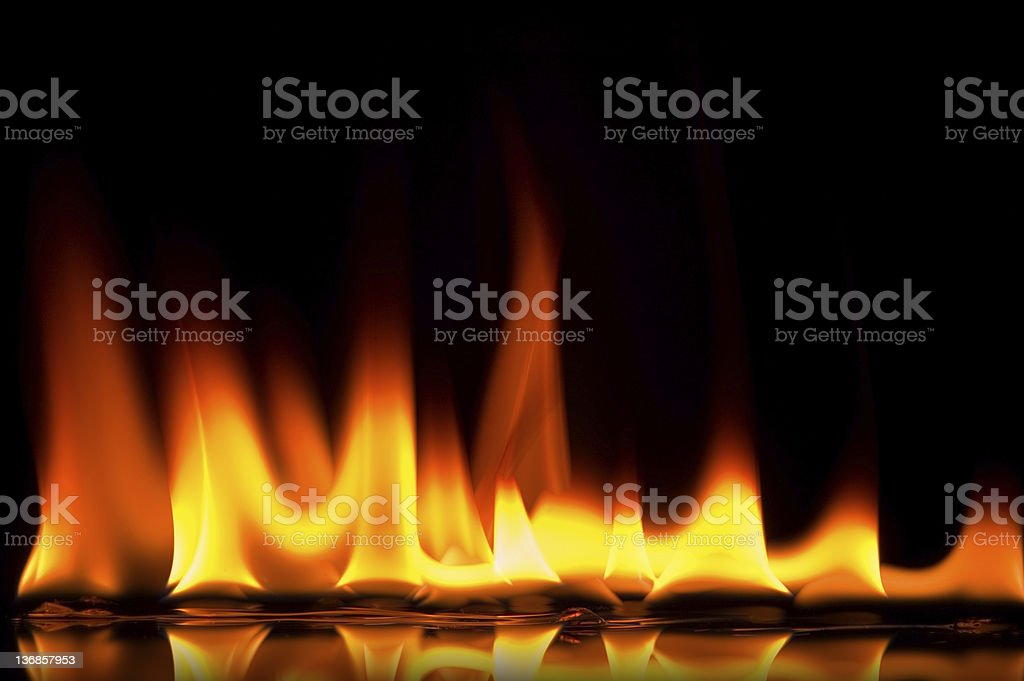 Flames Background royalty-free stock photo