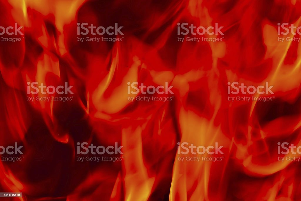 Flames Fire of Hell royalty-free stock photo