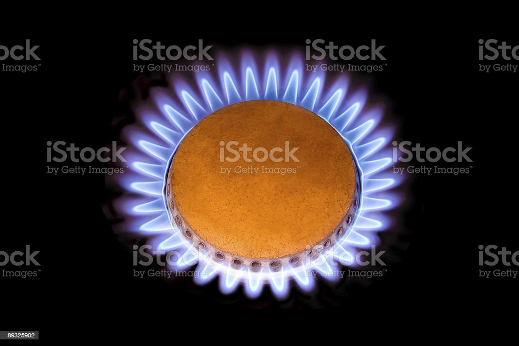 Flames from gas like a flower royalty-free stock photo