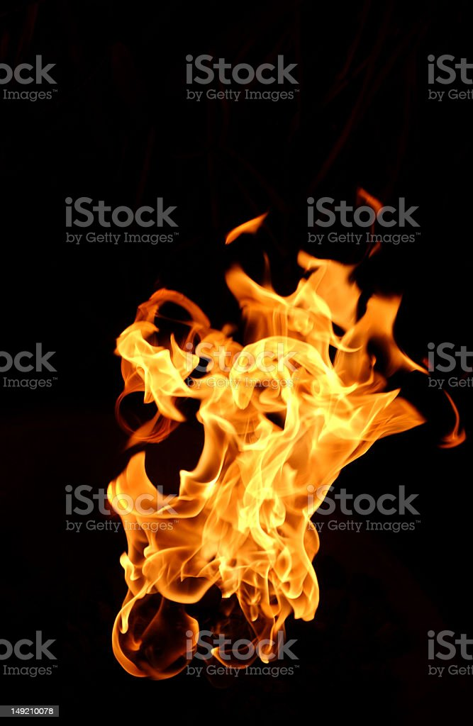 Flames on Black royalty-free stock photo