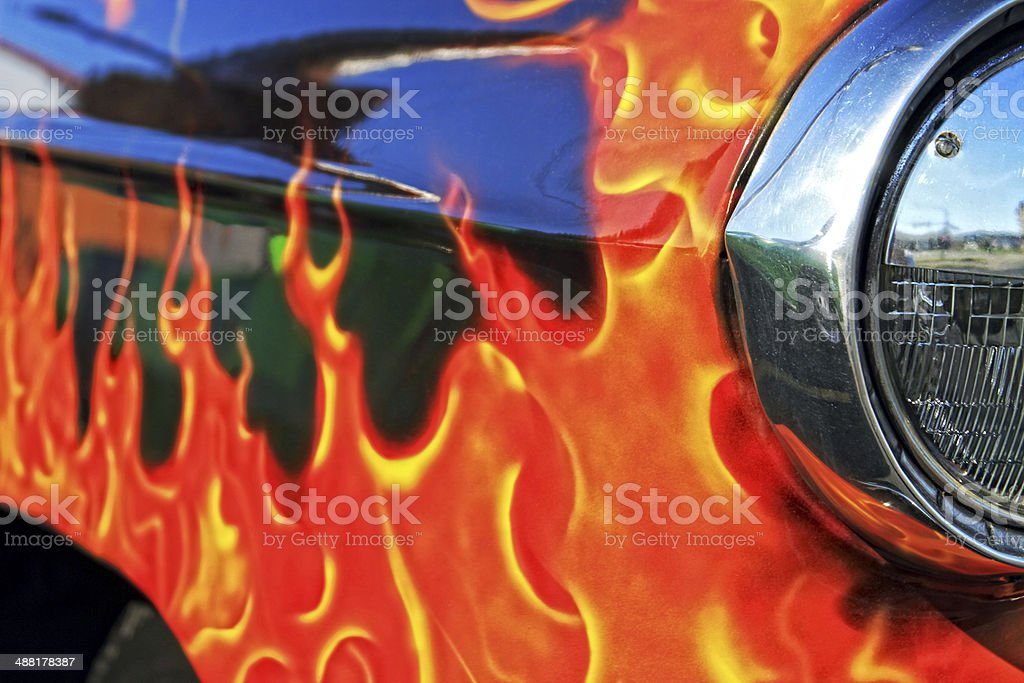 Flames royalty-free stock photo