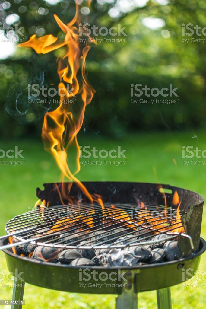 BBQ Flames stock photo