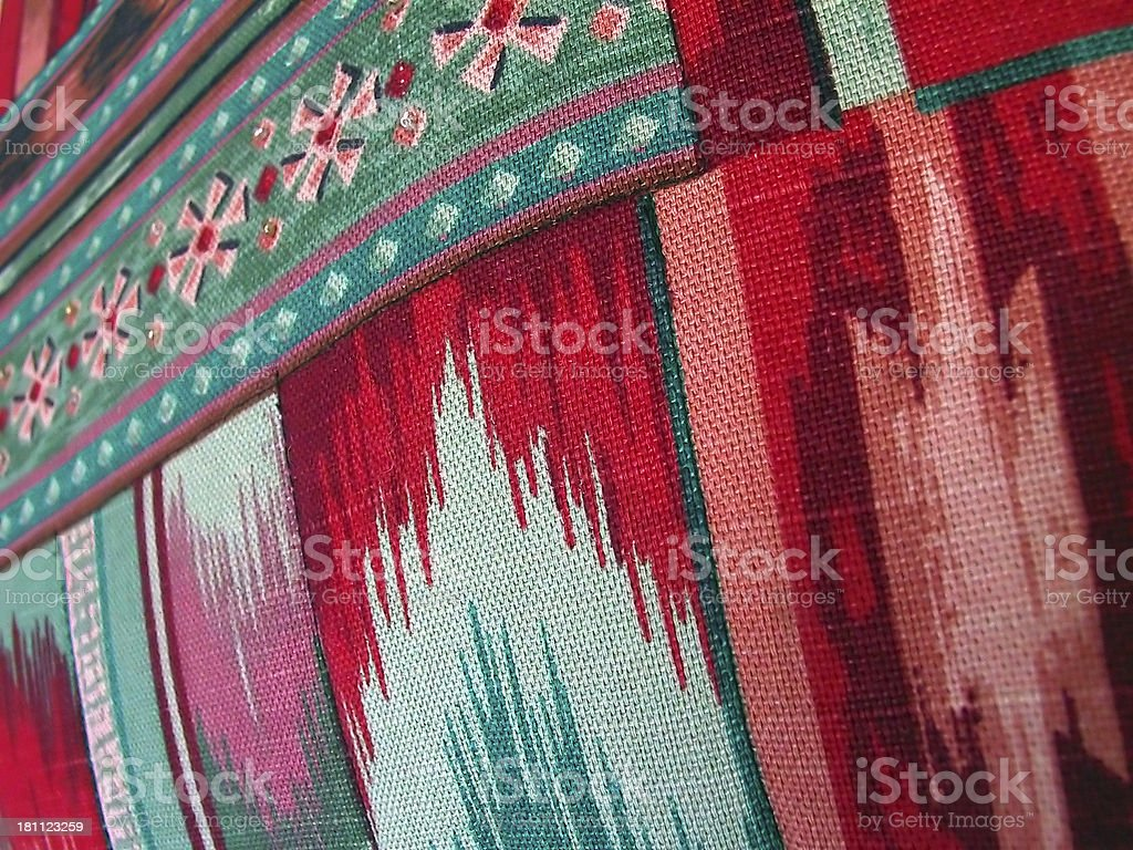 Flamestitch fabric royalty-free stock photo