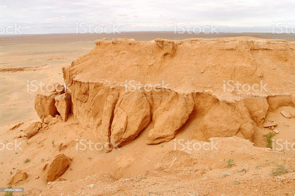 Flaming Cliffs in Mongolia stock photo