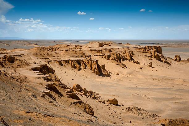 Flaming Cliffs Mongolia stock photo