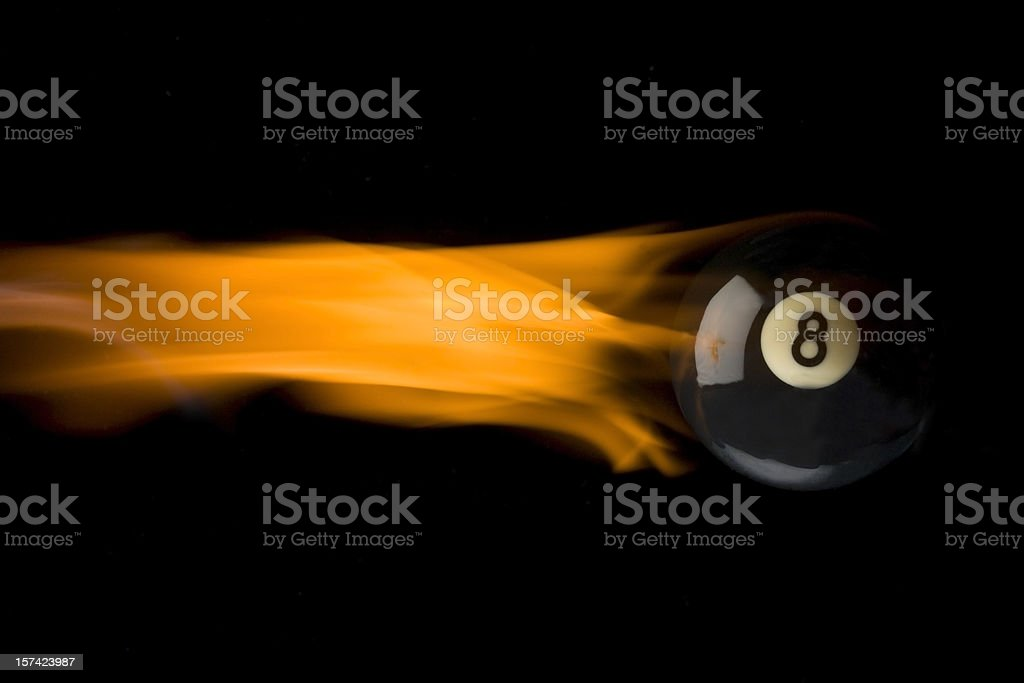 flaming eight ball royalty-free stock photo