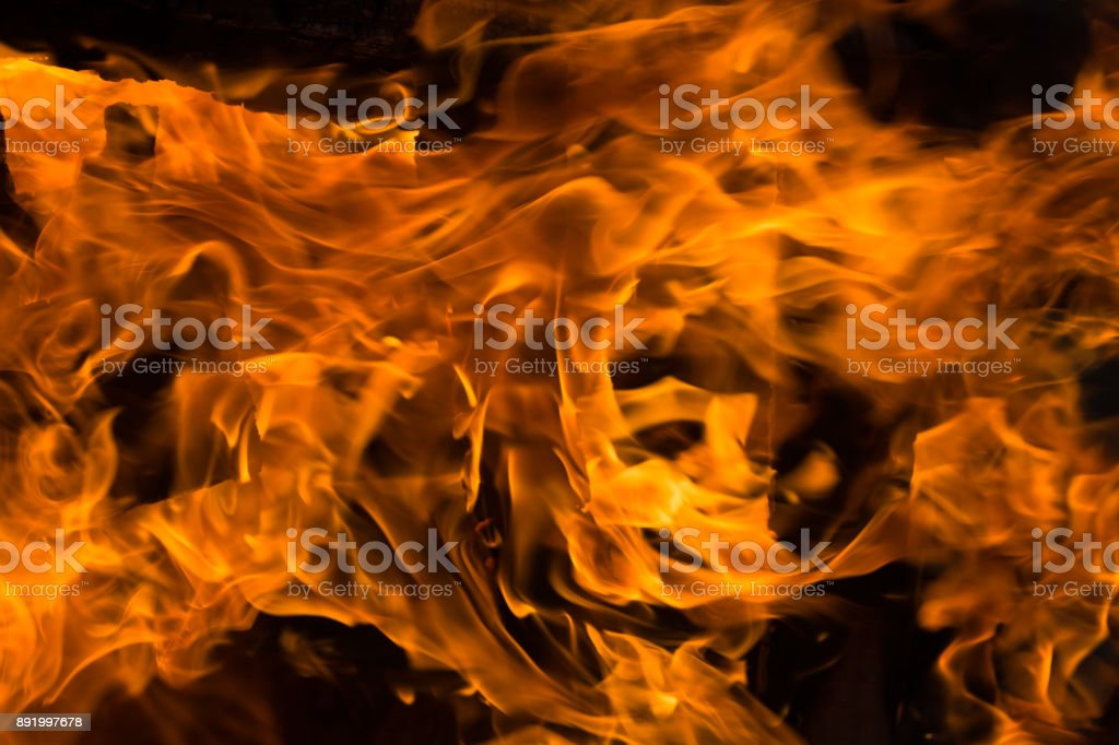 A flaming fire stock photo