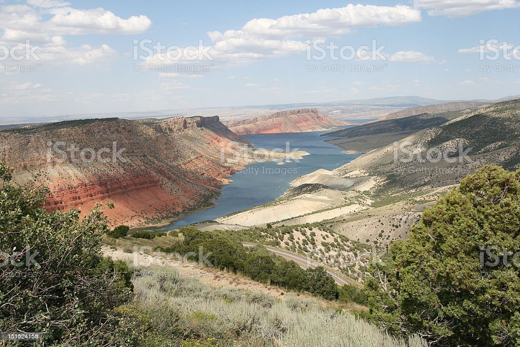 Flaming Gorge, Utah stock photo