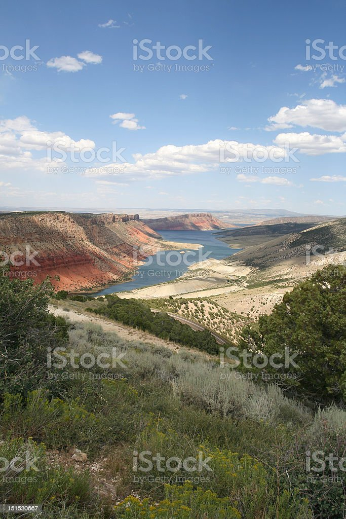 Flaming Gorge Viewpoint,  Utah stock photo