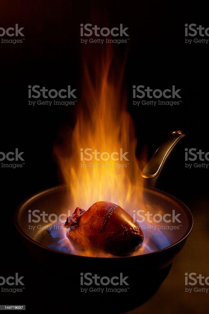 Flaming heart. royalty-free stock photo