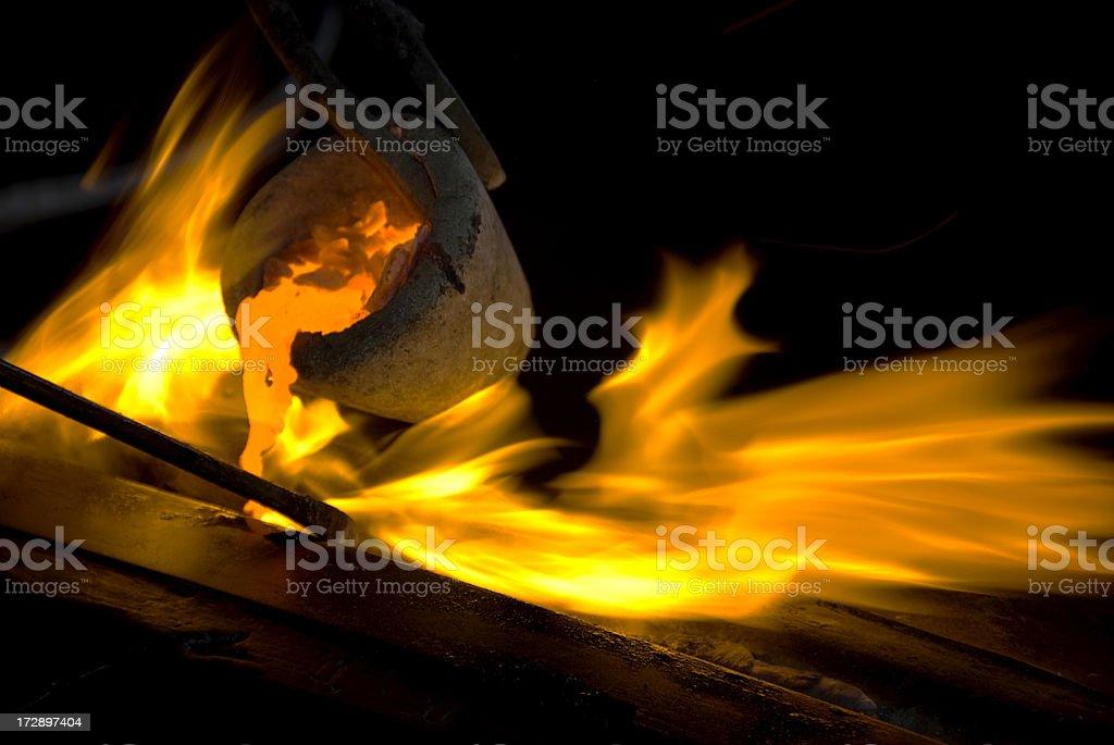 Flaming Hot royalty-free stock photo