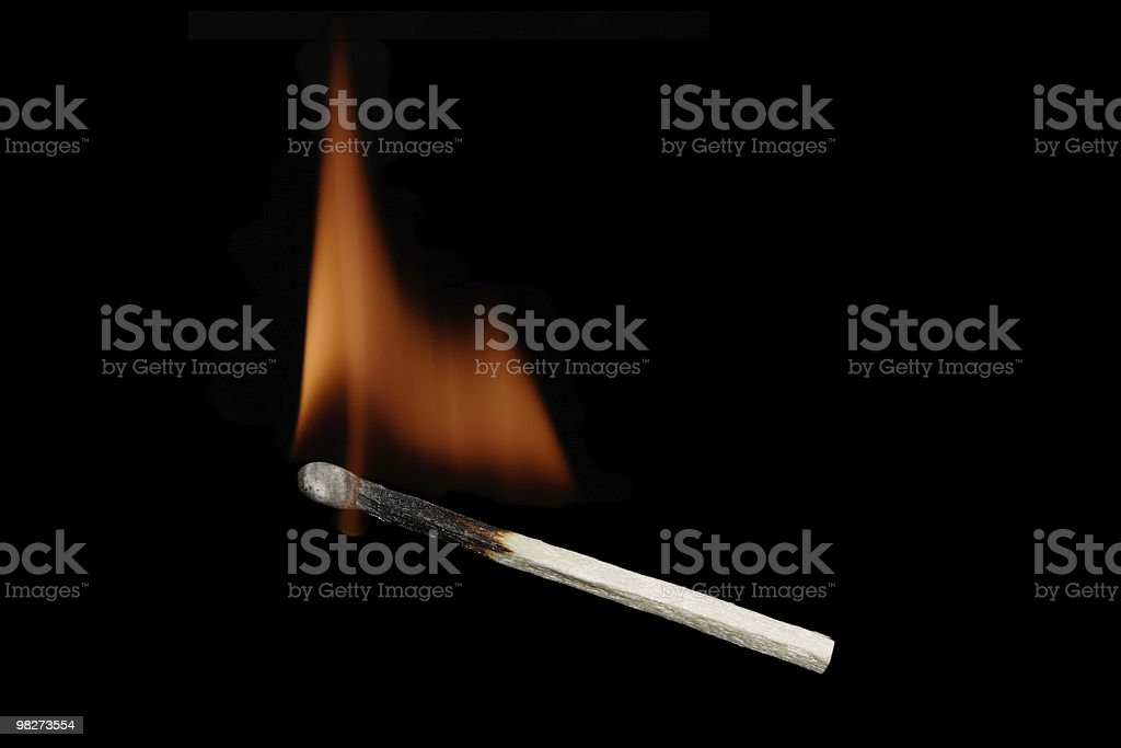 Flaming Match royalty-free stock photo