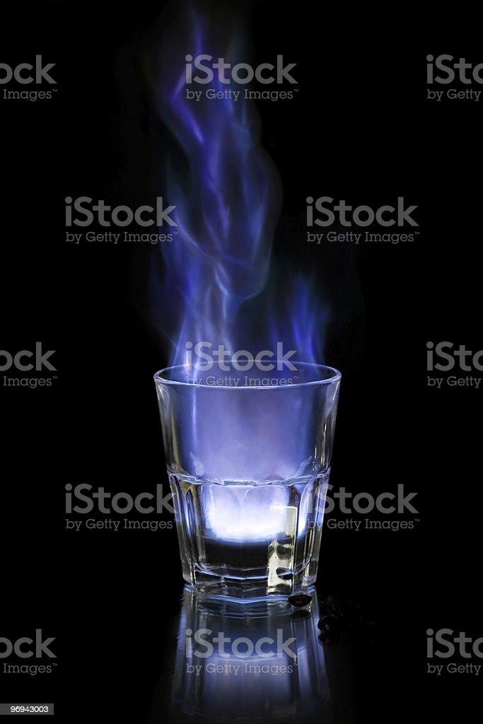 Flaming sambuca royalty-free stock photo