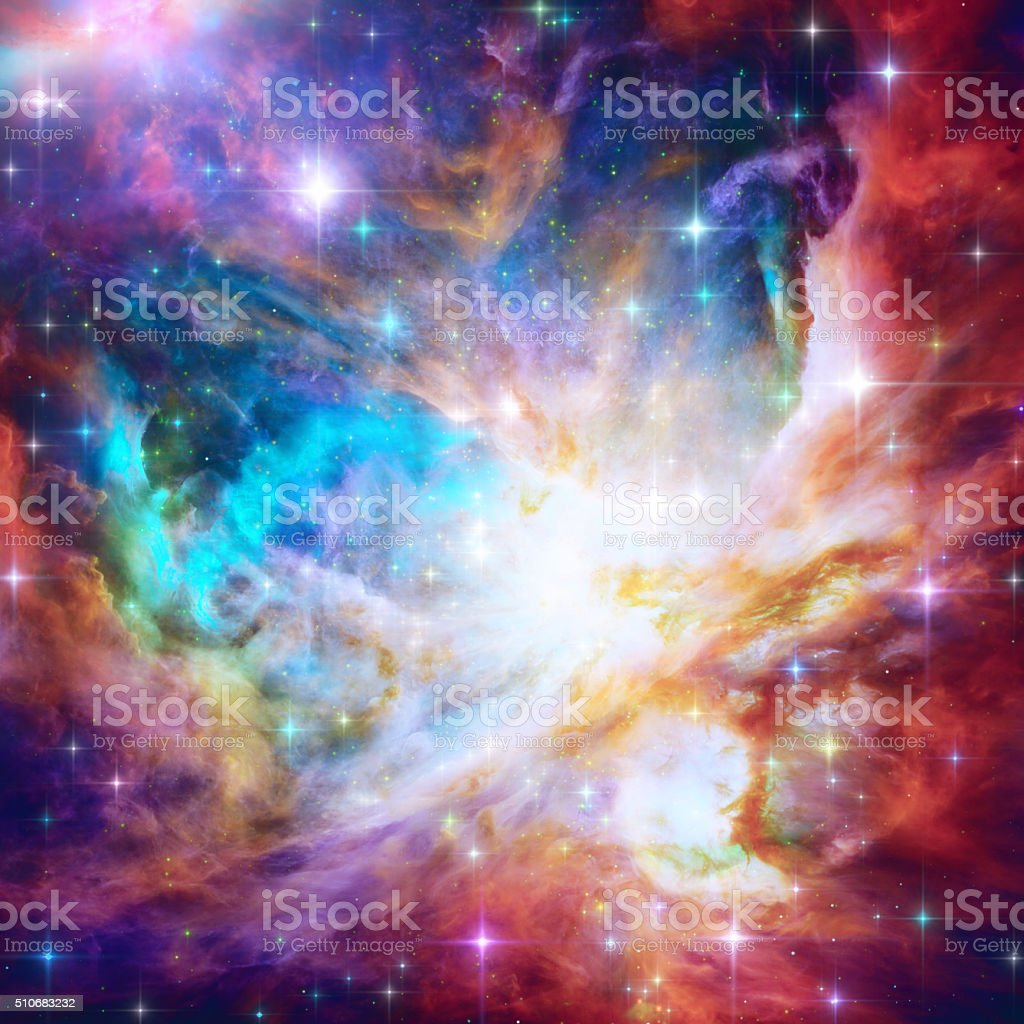 Flaming Star Nebula stock photo