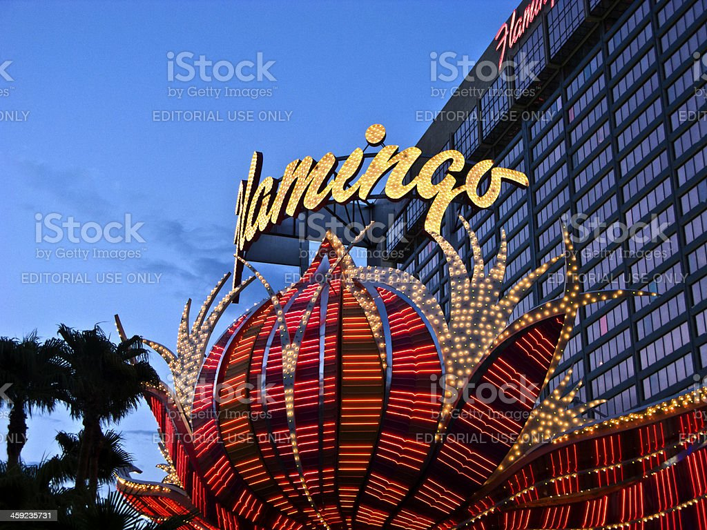 Flamingo hotel and gambling place on the Las Vegas Strip stock photo