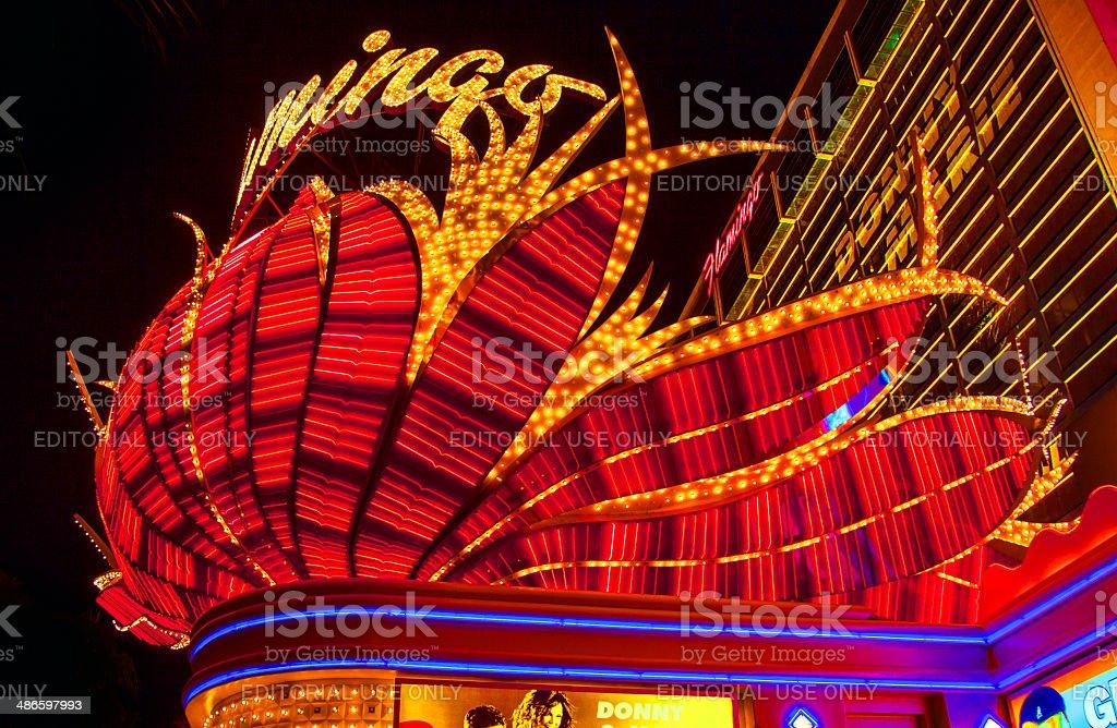 Flamingo Hotel Neon, Las Vegas, Nevada stock photo