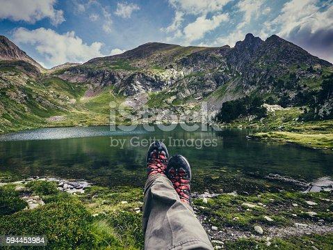 istock Flamisella glaciar lake Pirenees Catalonia Spain 594453984