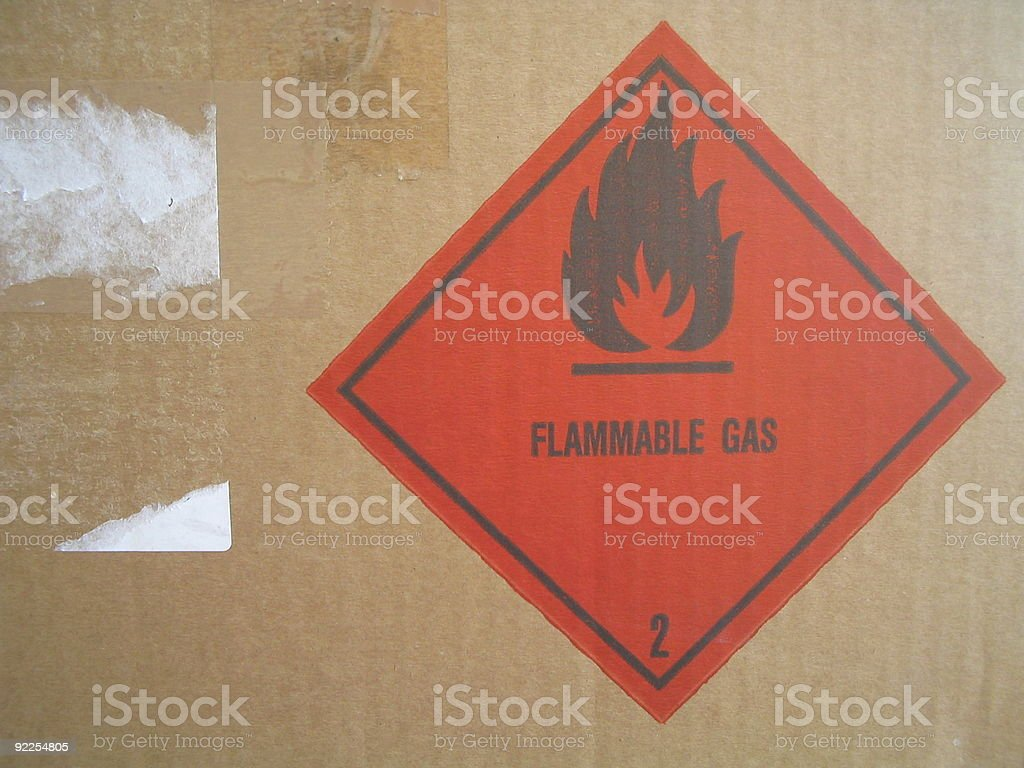 Flammable Gas stock photo