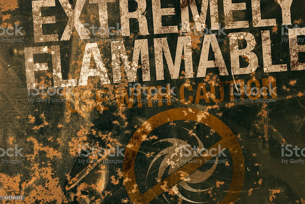 Flammable Grunge royalty-free stock photo
