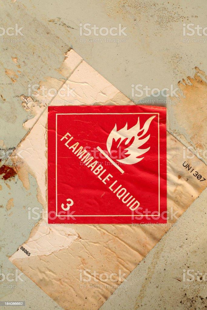 Flammable Liquid royalty-free stock photo