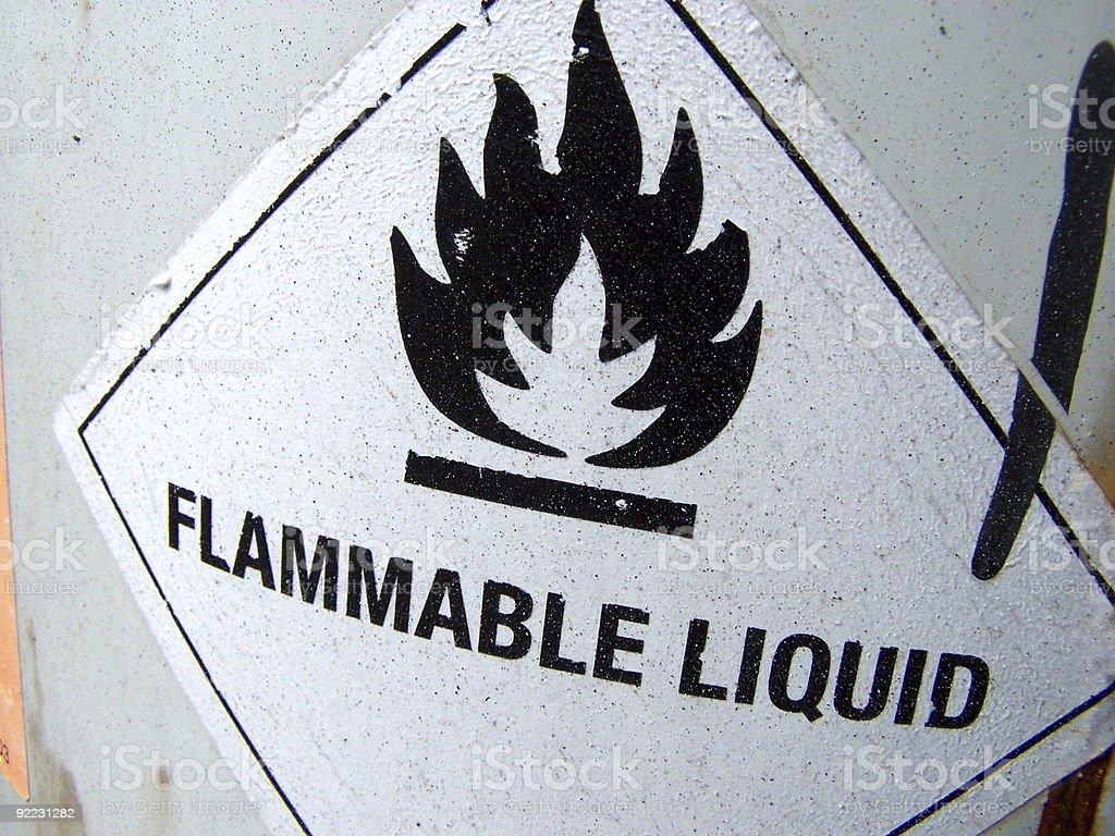 Entzündlich liquid – Foto