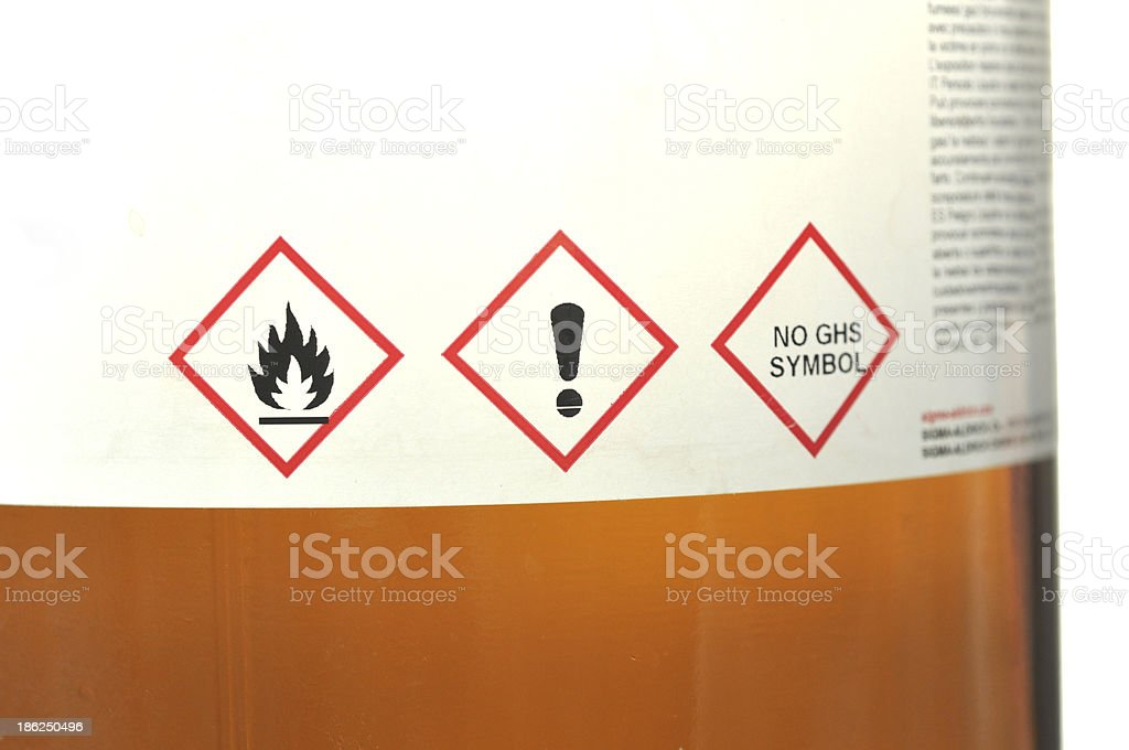 Flammable sign stock photo