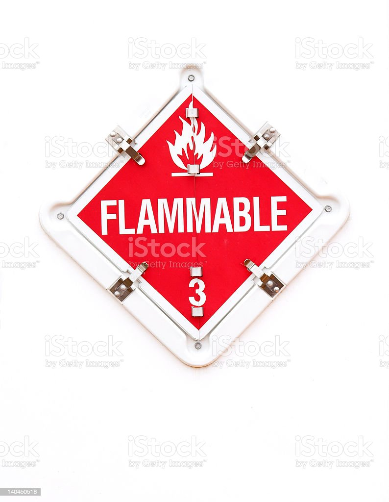 Flammable Warning Sign stock photo