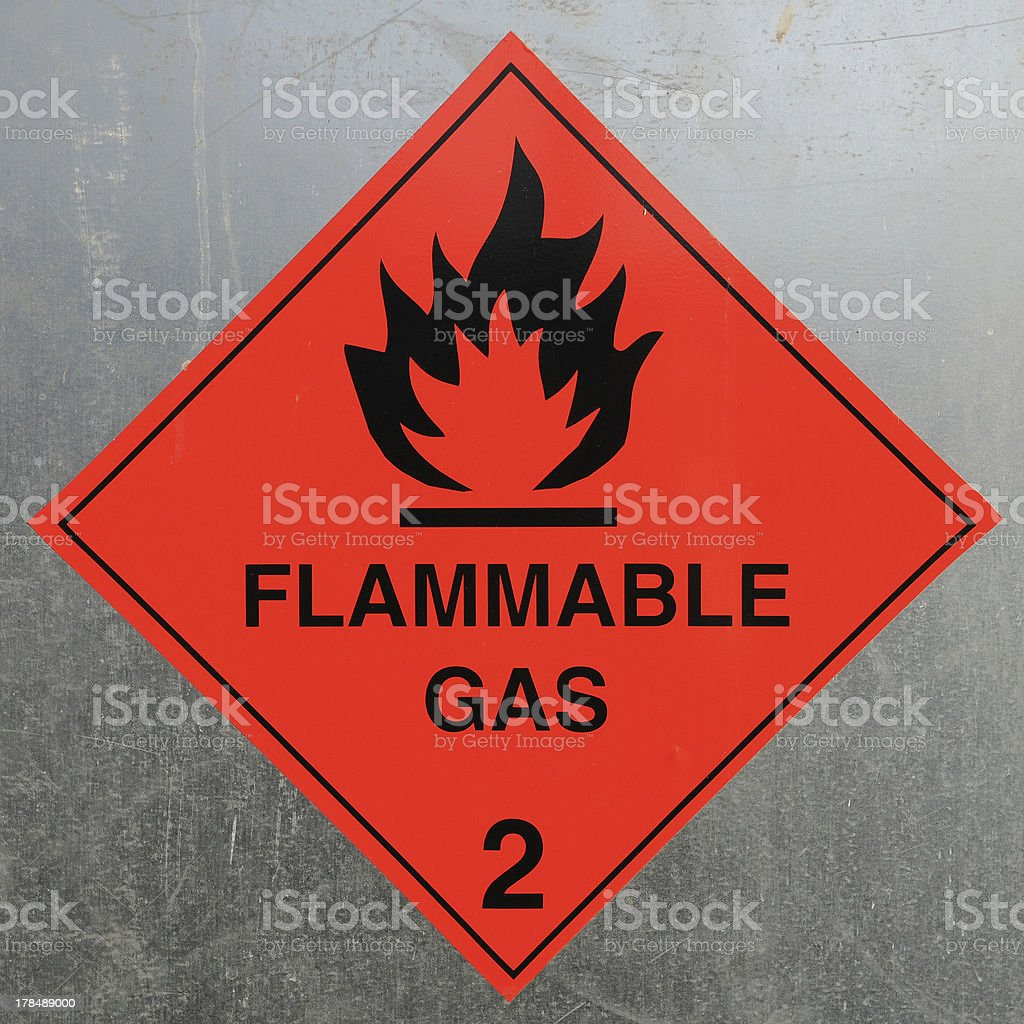 Flammamble Gas Sign stock photo