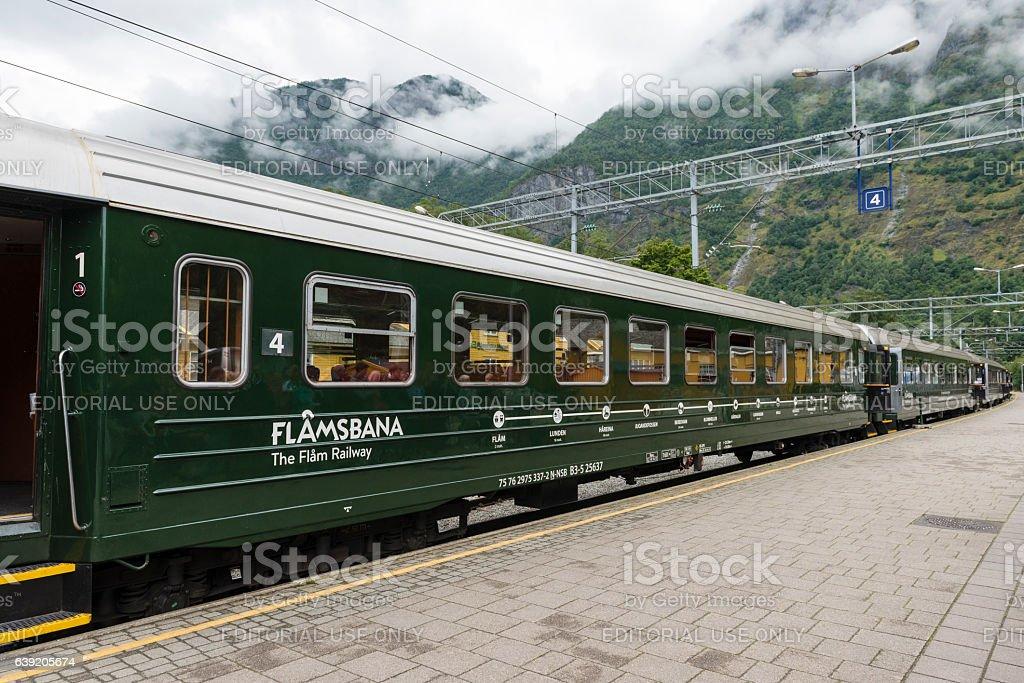 Flamsbana - The Flam Railway stock photo
