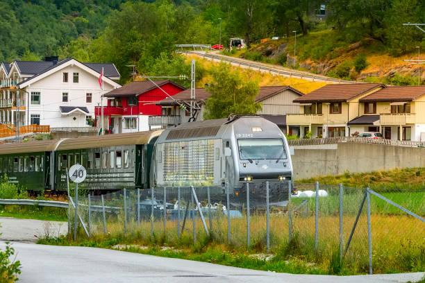 Flamsbana train, Norway stock photo