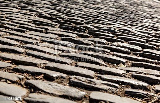 istock Flanders Cobblestone Road - Detail 1140814876