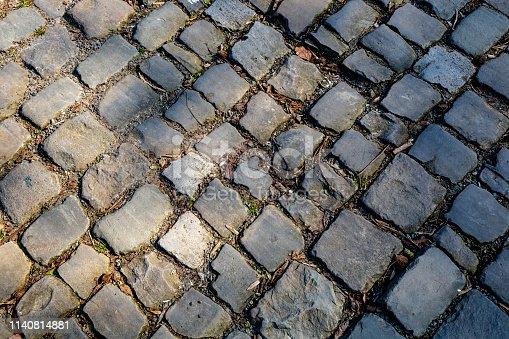 istock Flanders Cobblestone Road - Detail 1140814881