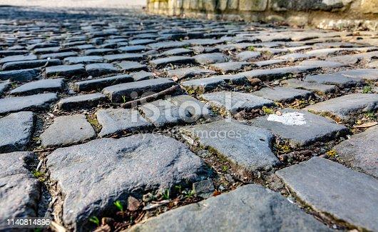 istock Flanders Cobblestone Road - Detail 1140814895